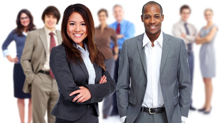 Group,Of,Business,People,Isolated,White,Background.